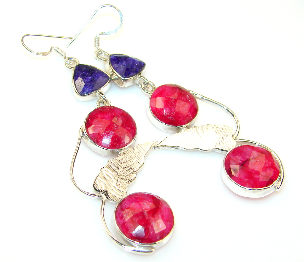 Mystries Ruby Sterling Silver earrings