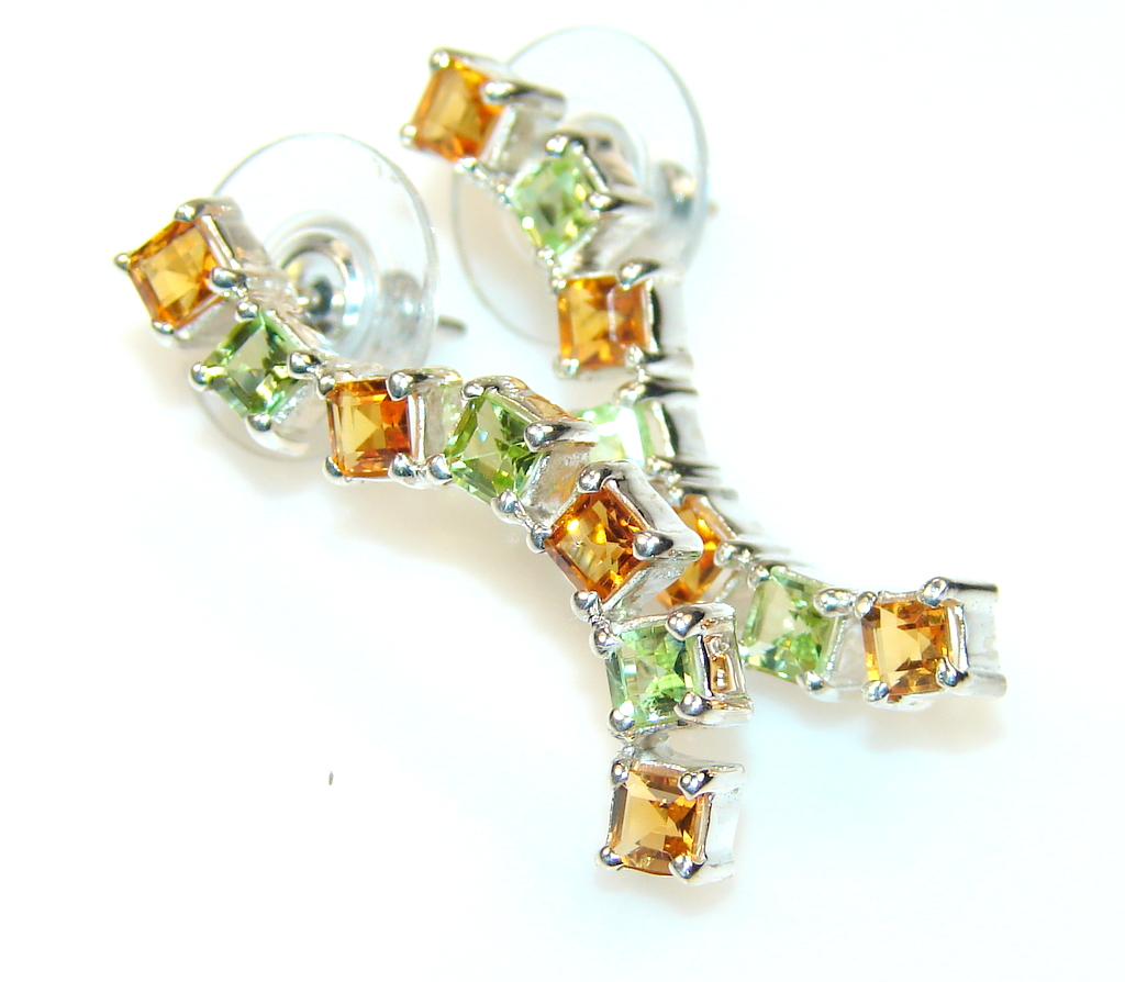 Image of ShowTime Citrine Sterling Silver Earrings