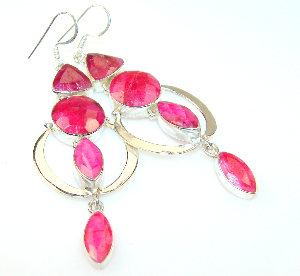 Beautiful Ruby Sterling Silver earrings