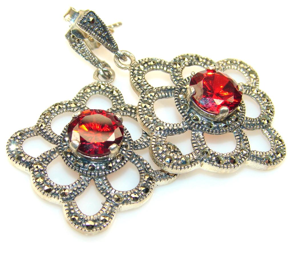 Best Friend Garnet Sterling Silver earrings