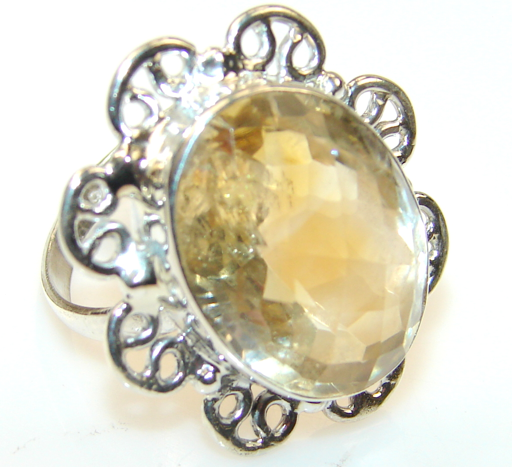Promise Citrine Sterling Silver ring