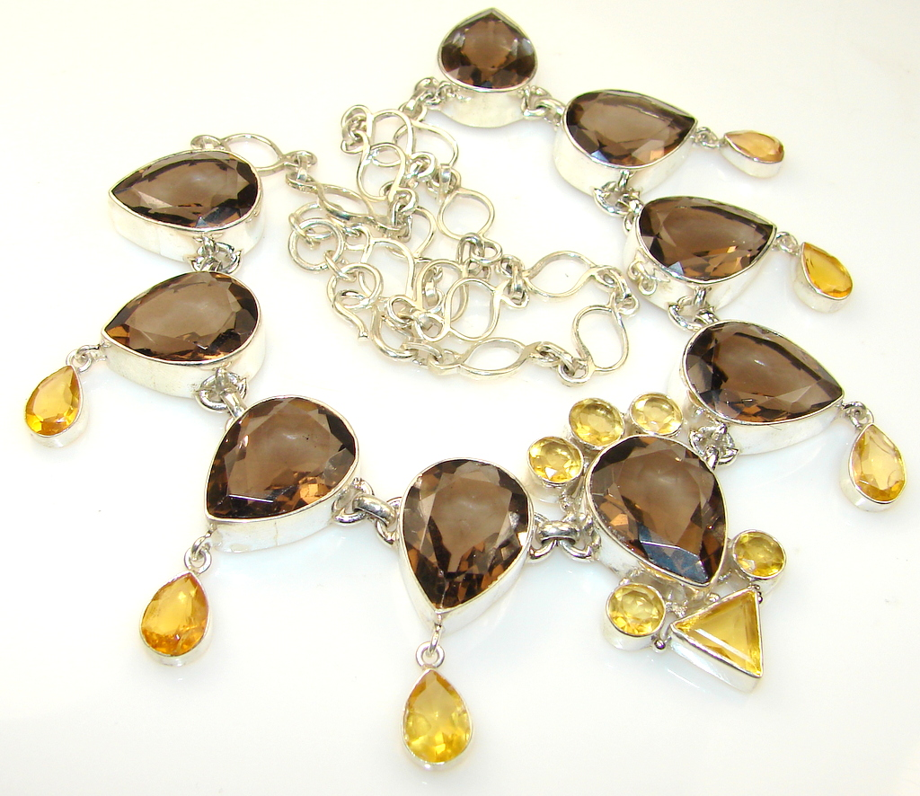Before Time Smoky Topaz Sterling Silver necklace