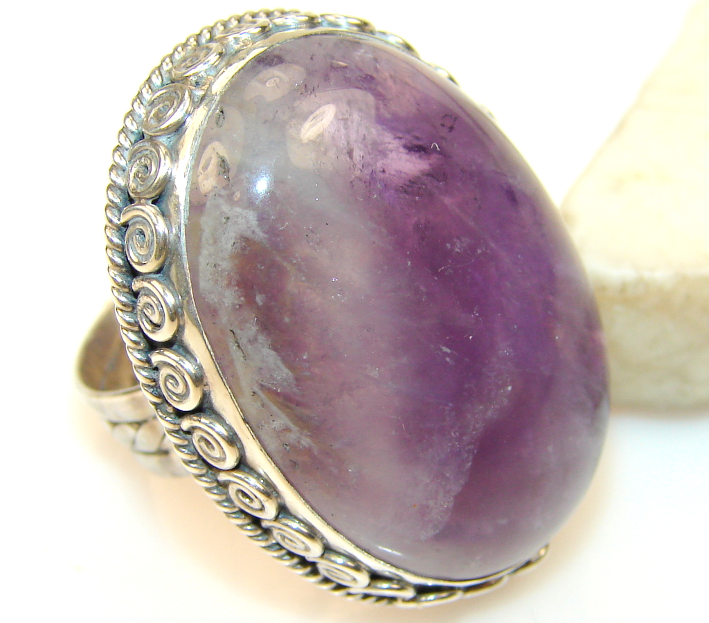 Amazing Amethyst Sterling Silver ring s. 6