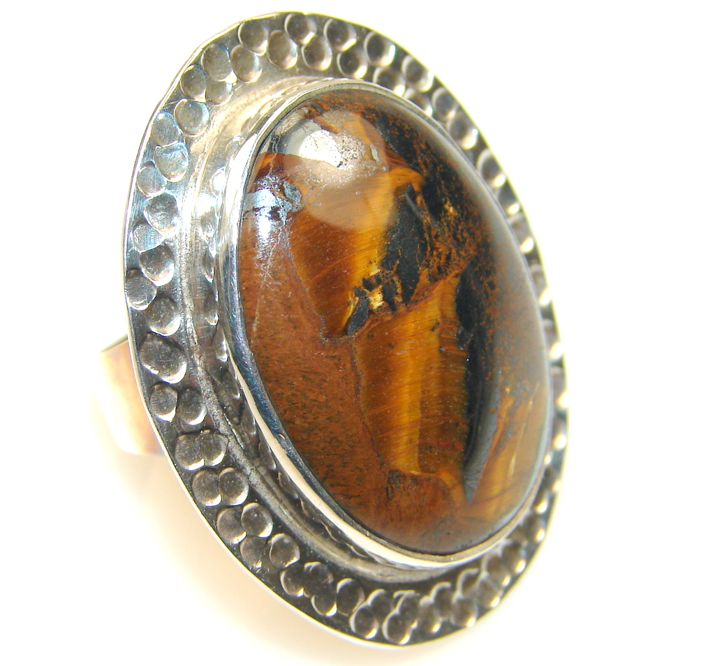 Image of Vision Tigers Eye Sterling Silver Ring s. 5 1/4