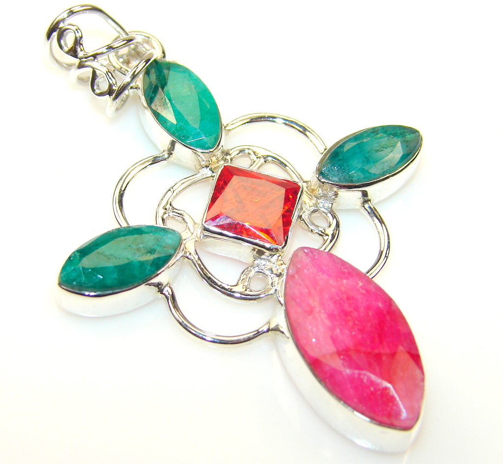 Empress Ruby Sterling Silver Pendant