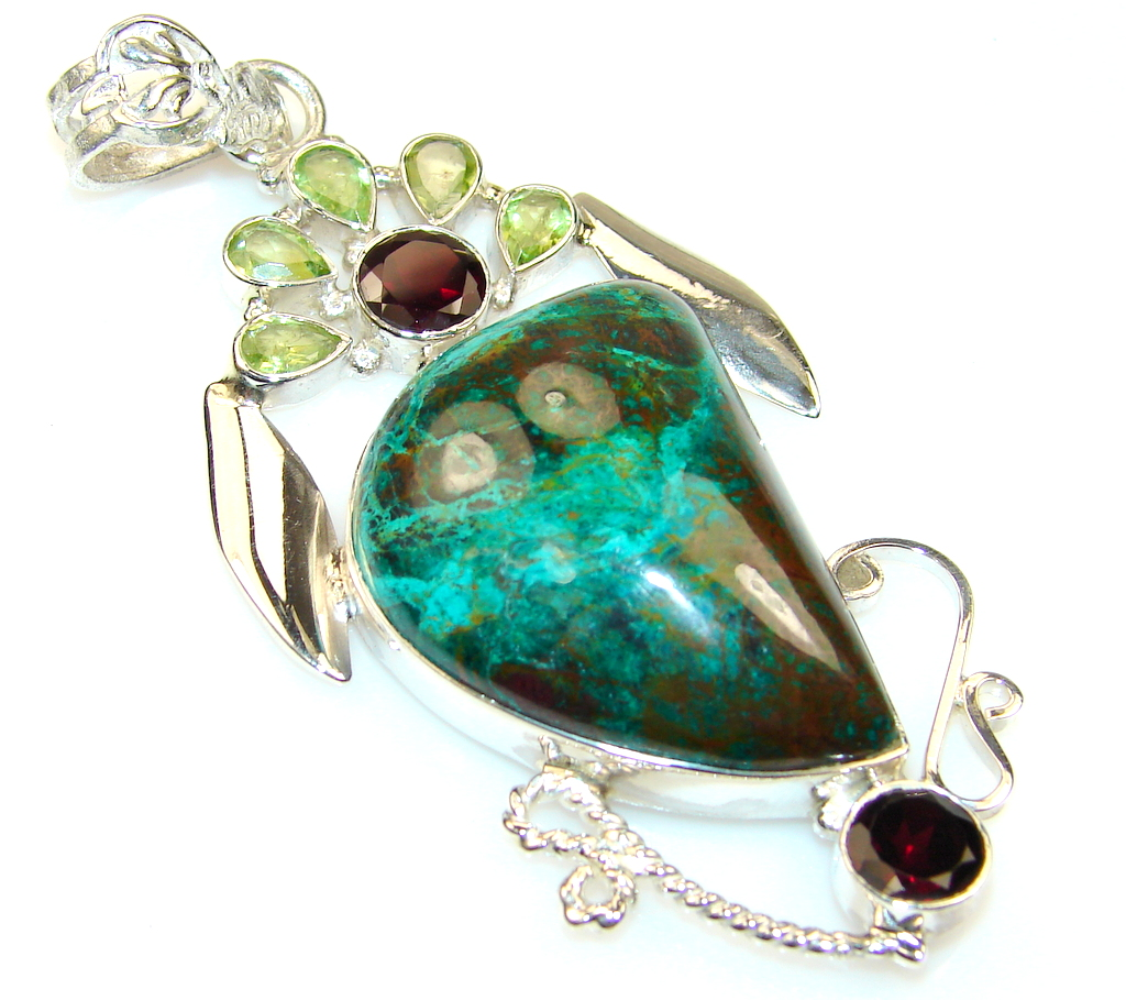 Empress Chrysocolla Sterling Silver pendant