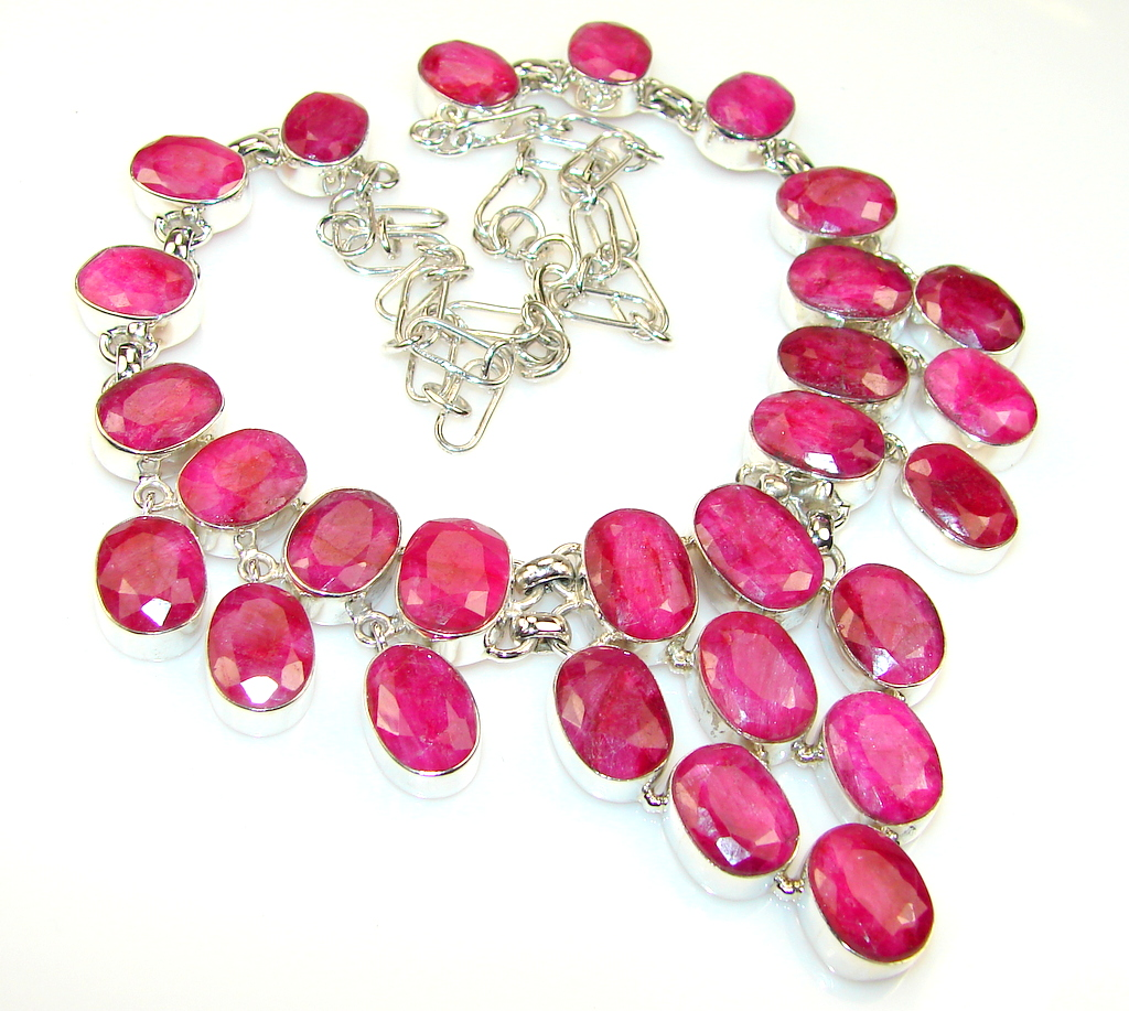 Make Memories Ruby Sterling Silver necklace