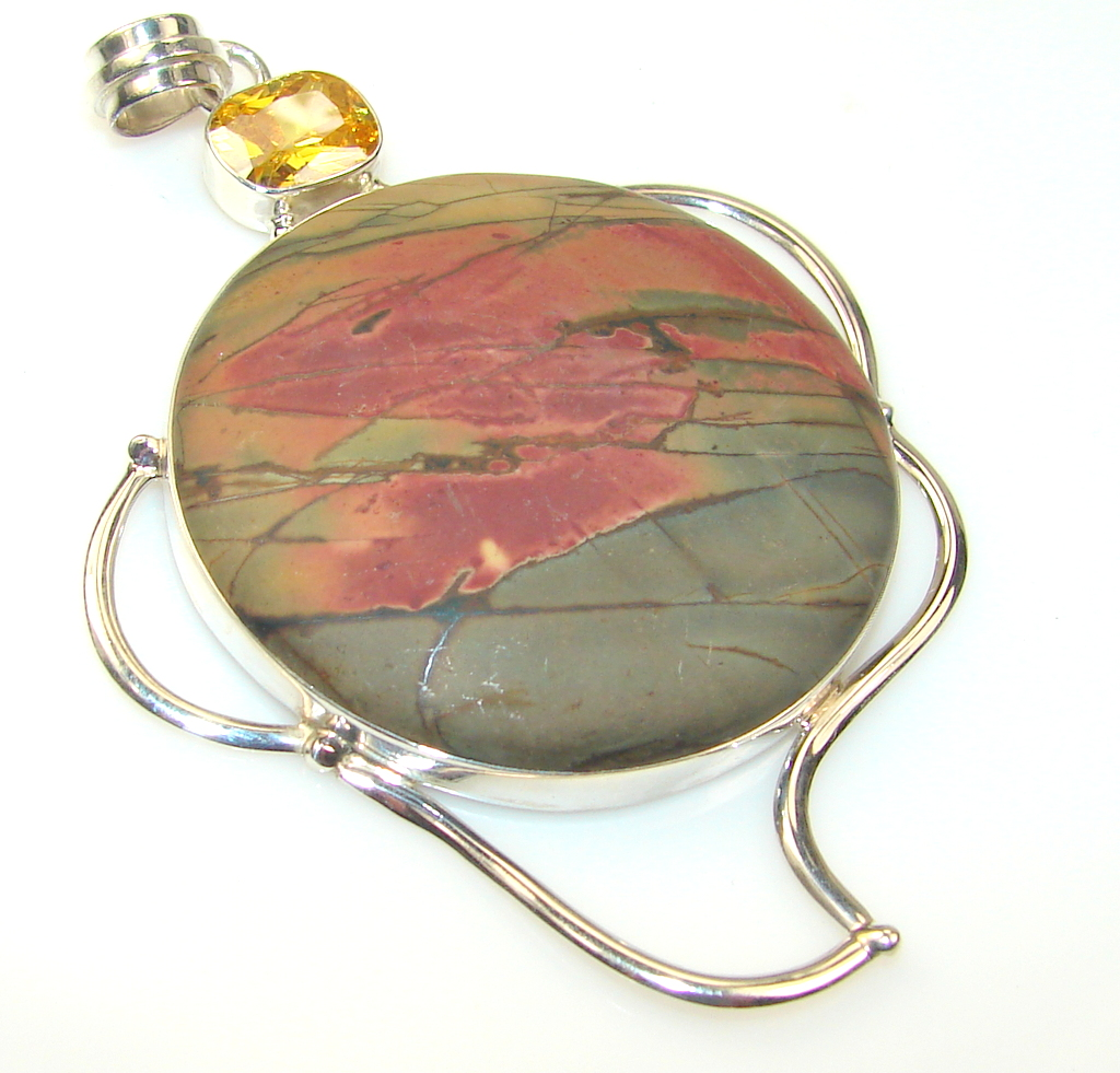 Beauty Matte Noreena Jasper Sterling Silver Pendant