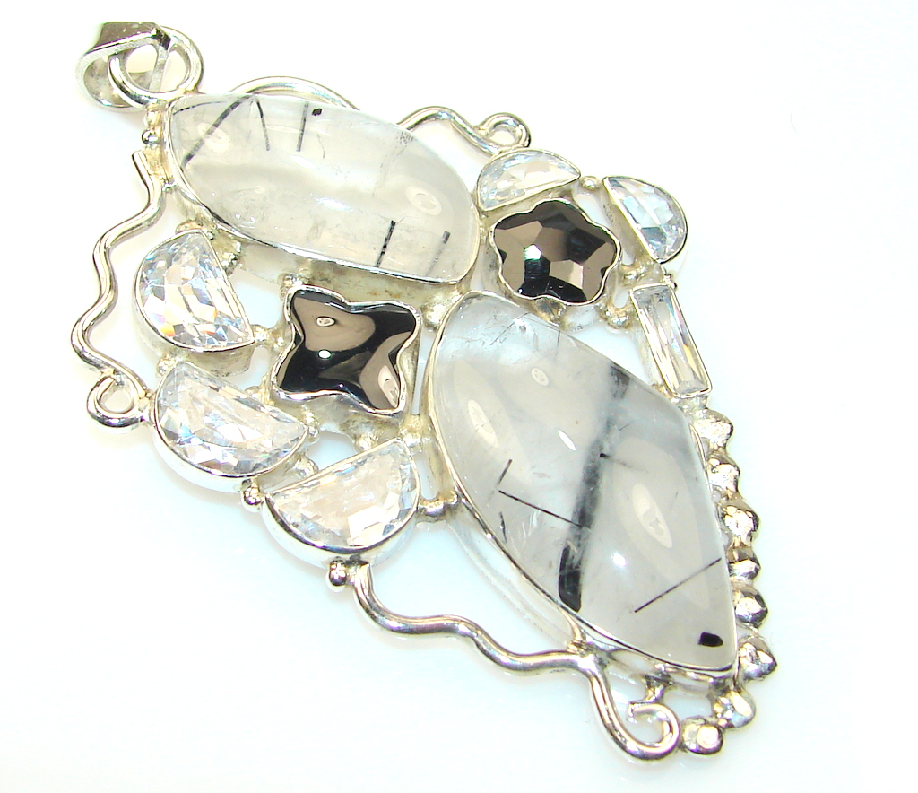 Image of ShowTime Tourmalinated Quartz Sterling Silver Pendant