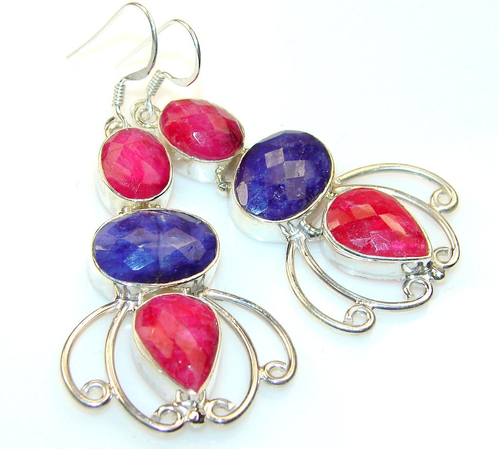 Trade Secret Ruby Sterling Silver earrings