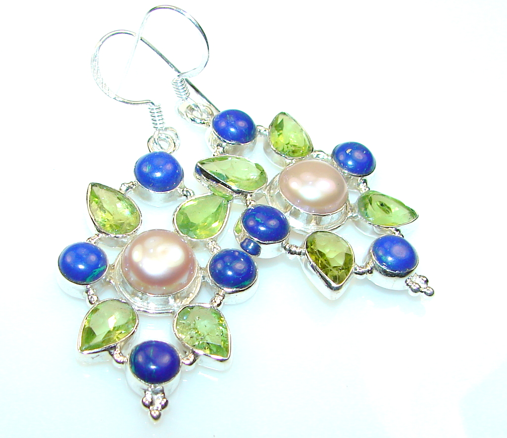 Excellent Mother of Pearl Sterling Silver earrings