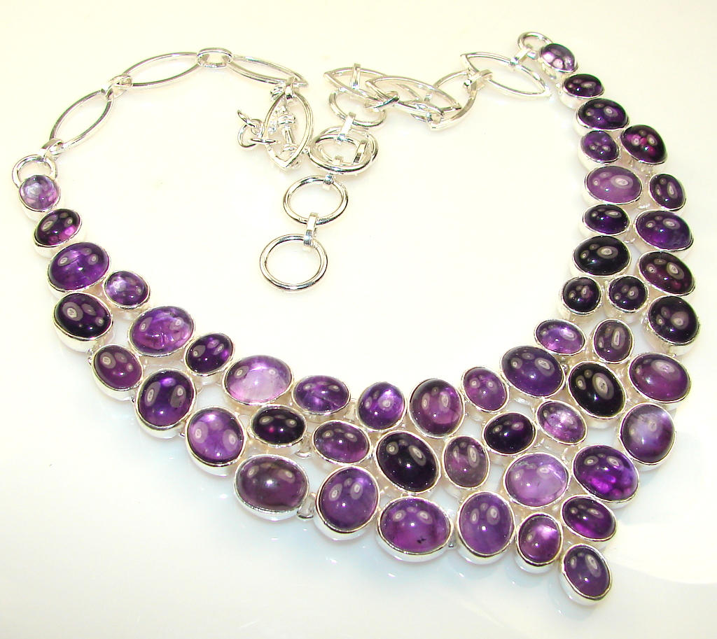 Lavender Field Amethyst Sterling Silver necklace