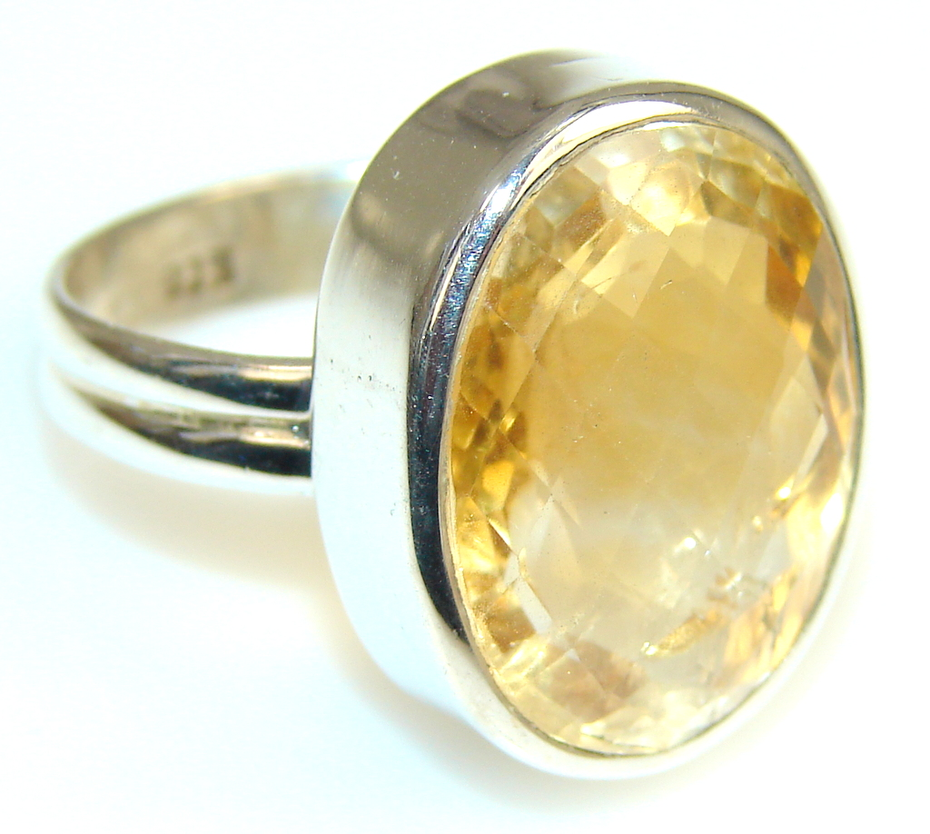 Sunny Day Citrine Sterling Silver ring s. 9
