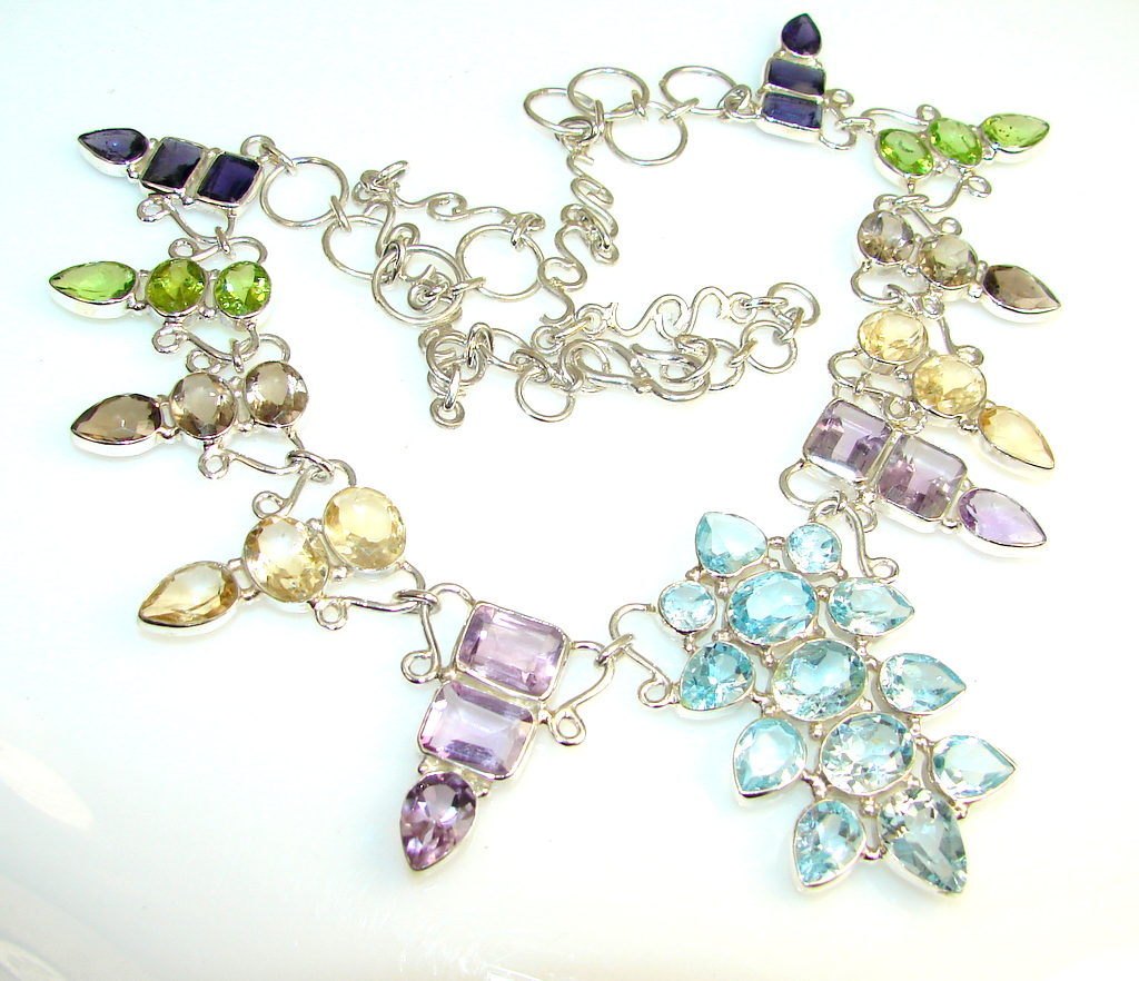 Delicate Swiss Blue Topaz Sterling Silver necklace