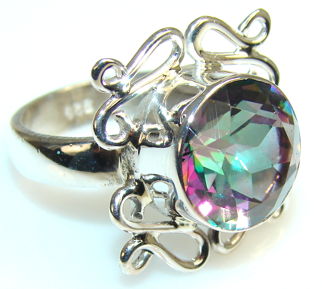 Image of Disco Light Magic Topaz Sterling Silver ring s. 8