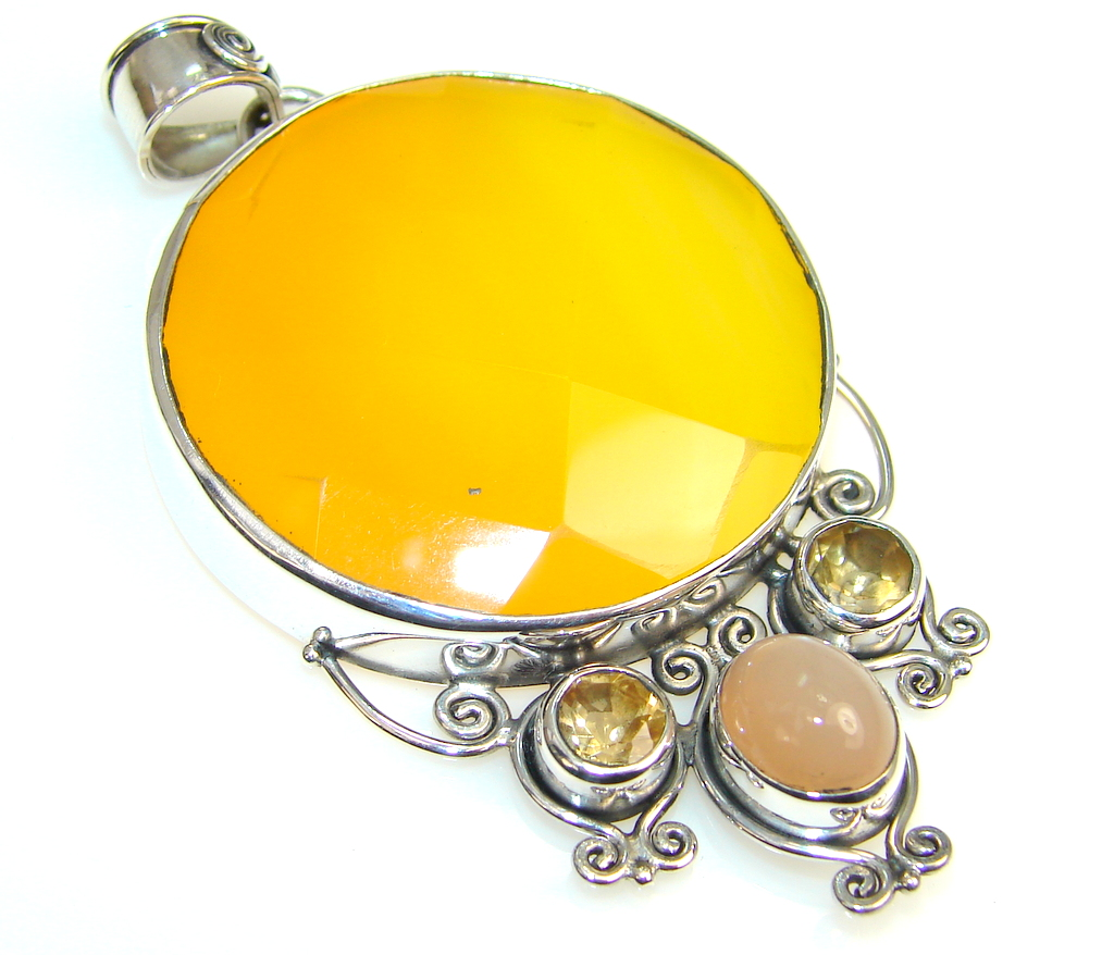Natural Beauty Of Agate Sterling Silver Pendant