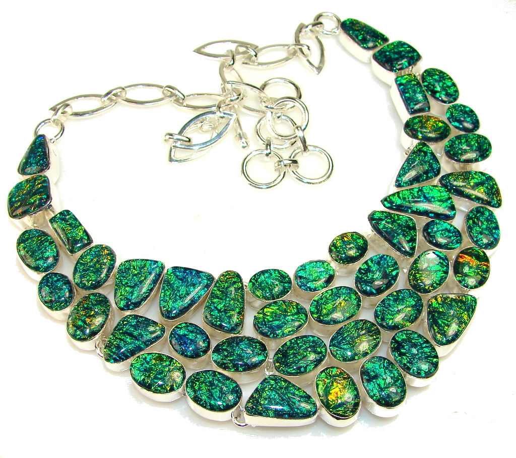 Beautiful Dichroic Glass Sterling Silver necklace