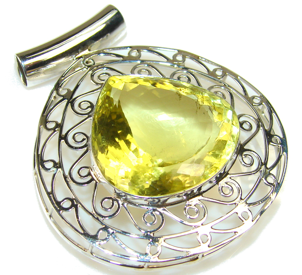 Image of Sunset Glow!! Citrine Quartz Sterling Silver Pendant