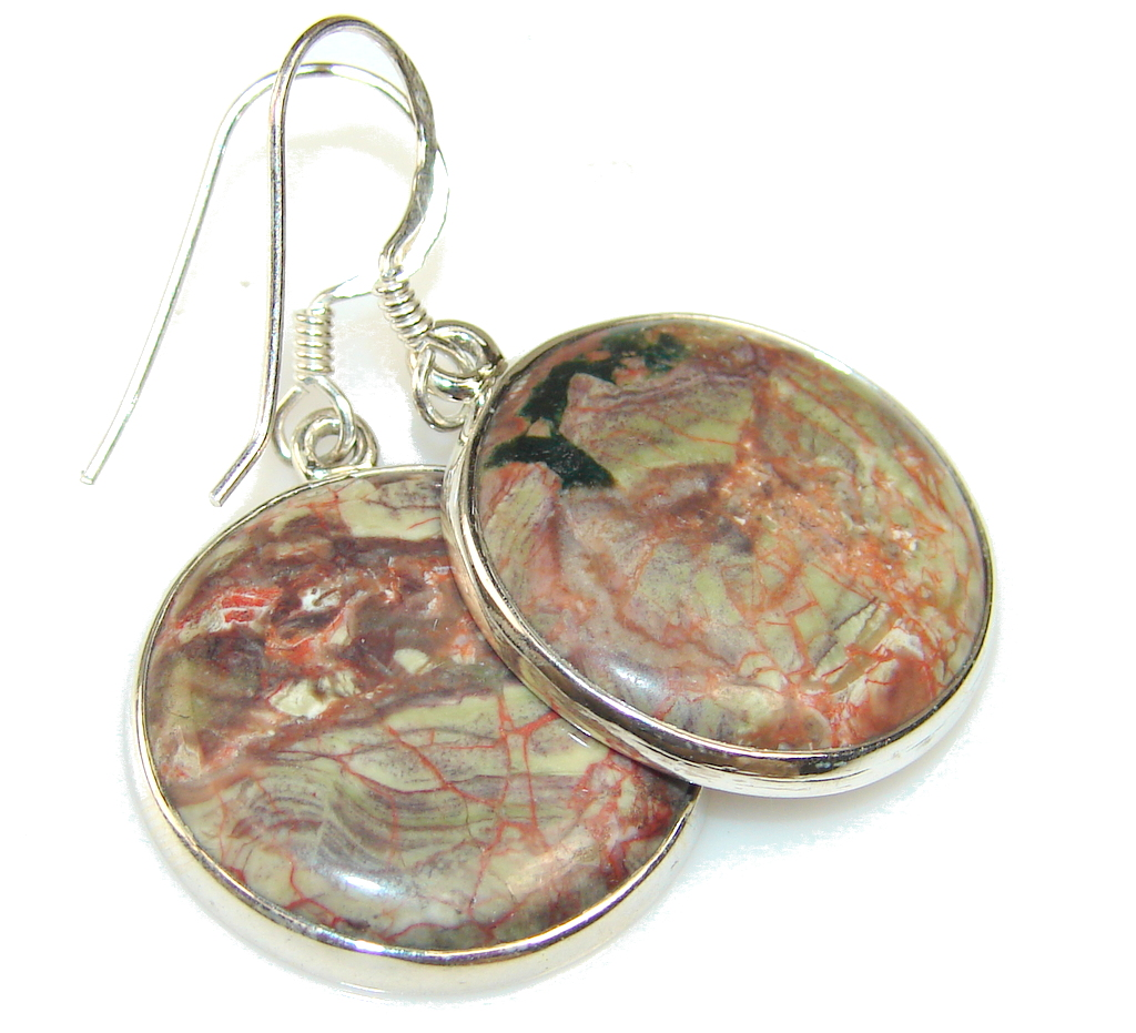 Image of Fantastic Montana Agate Sterling Silver earrings