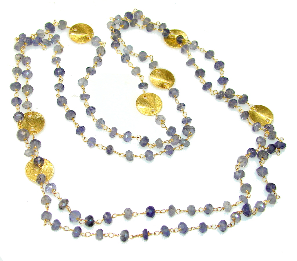 Amazing Lights Iolite Sterling Silver necklace