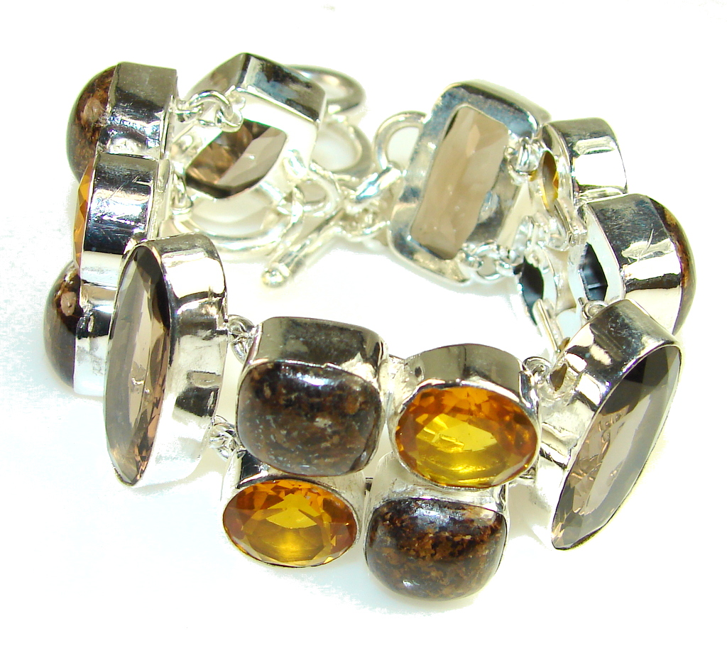 Most Clever Citrine Quartz Sterling Silver Bracelet