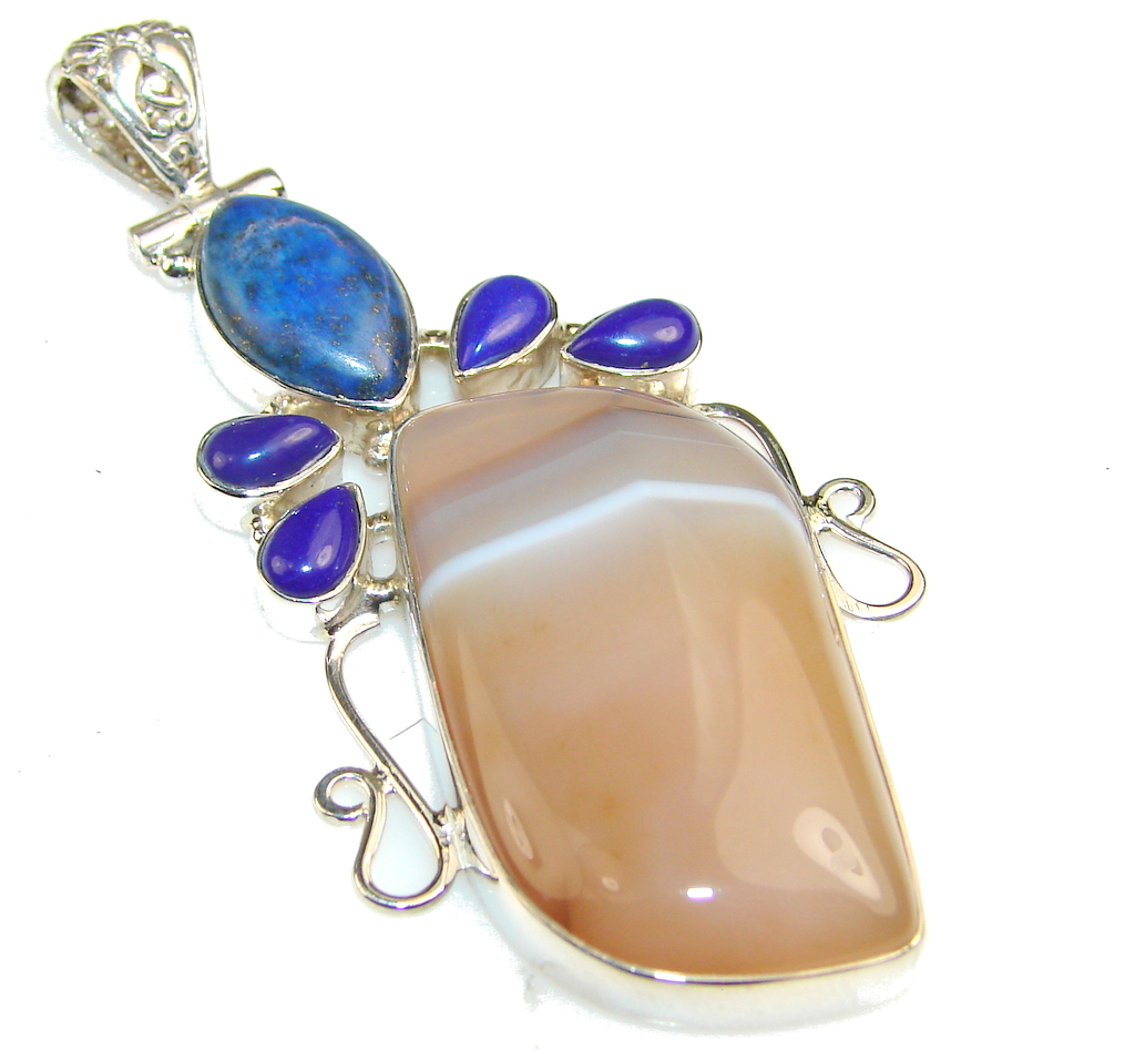 Azure Fruit!! Agate Sterling Silver Pendant