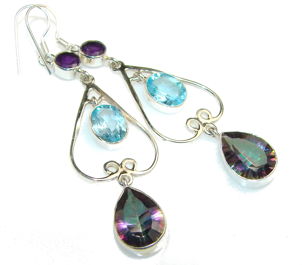 Image of Disco Light!! Magic Topaz Sterling Silver earrings
