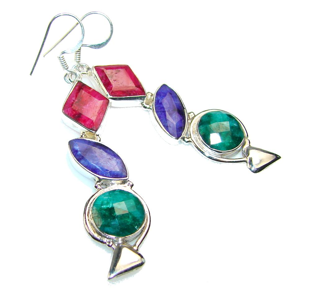 Forever Emerald Sterling Silver earrings