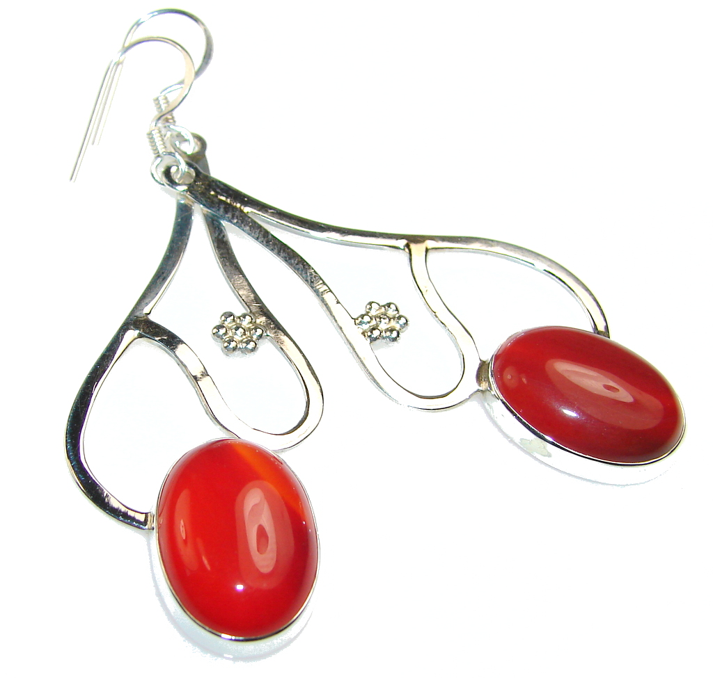 Be Spectacular!! Carnelian Sterling Silver earrings