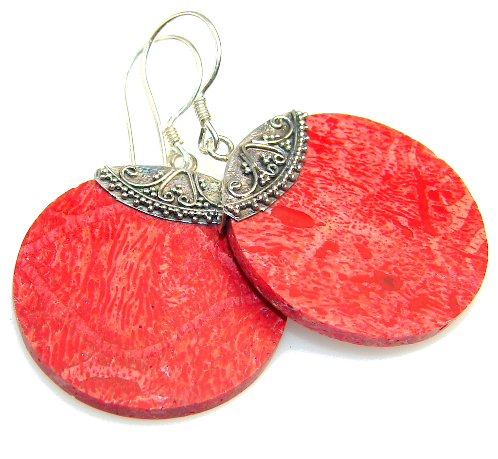 My Sweet Fossilized Coral Sterling Silver earrings