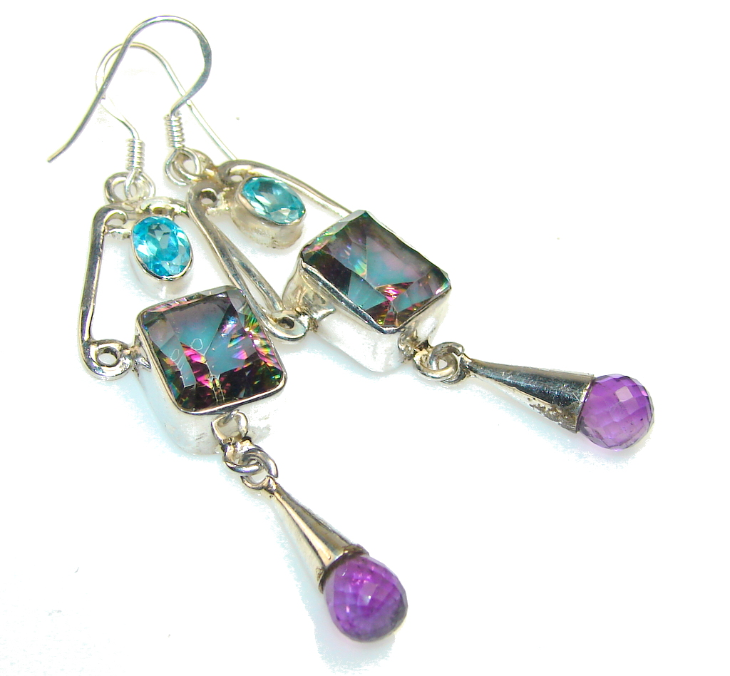 Fiesta Fun Magic Topaz Sterling Silver earrings