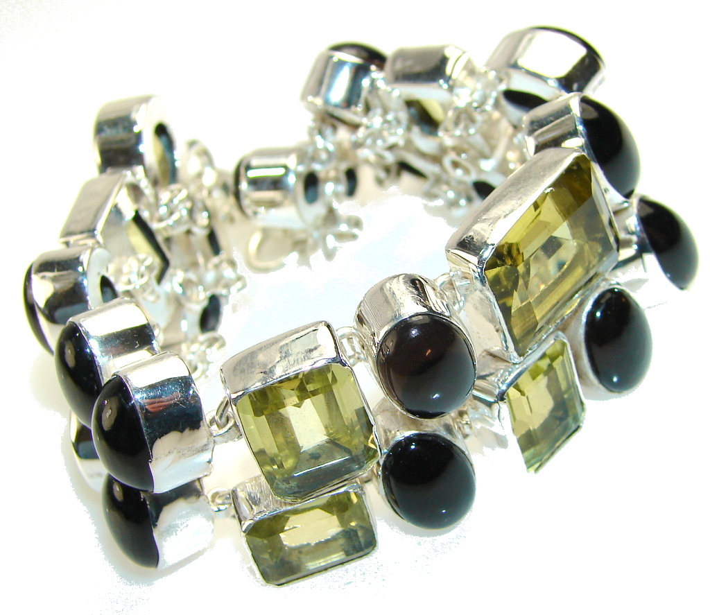 Beauty Citrine Quartz Sterling Silver Bracelet