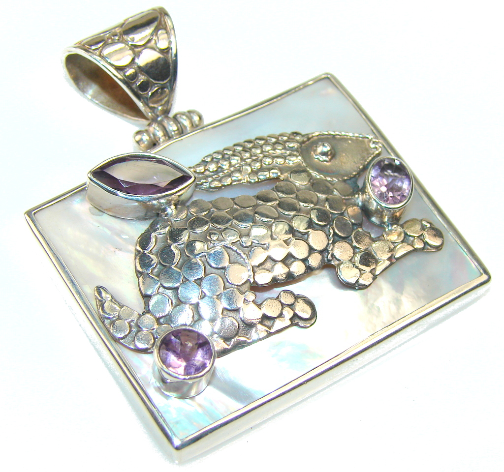Image of Classy Rabbit Blister Pearl Sterling Silver pendant