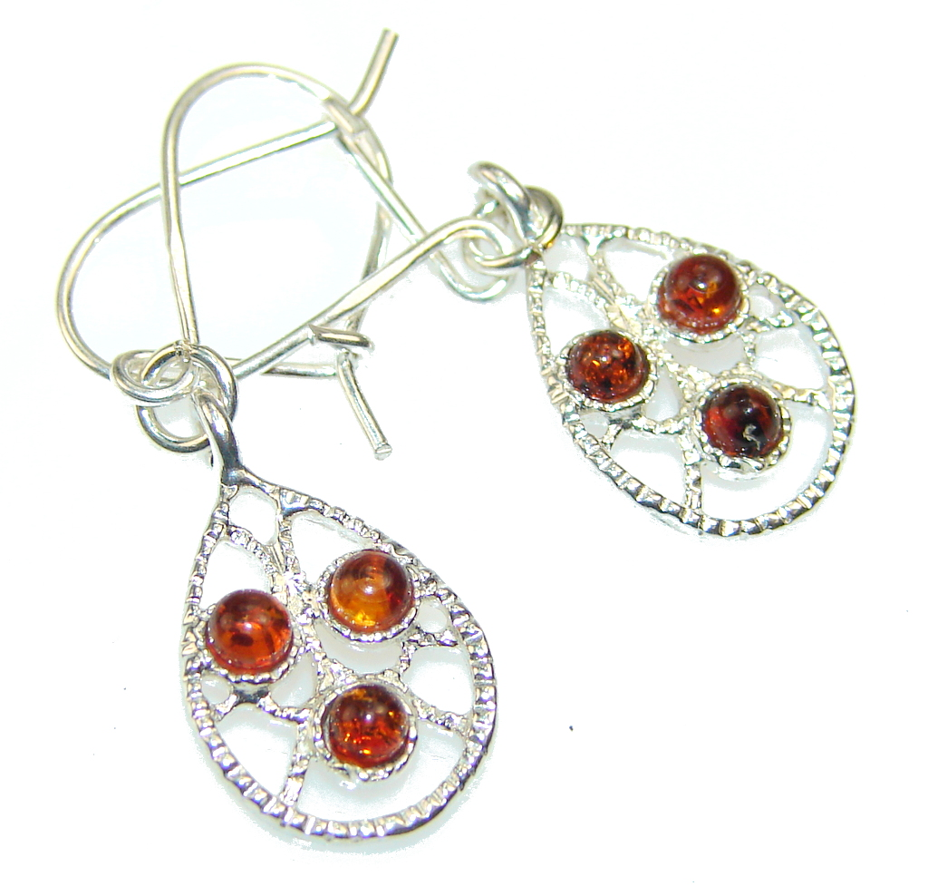 Image of My Sweet Polish Amber Sterling Silver earrings