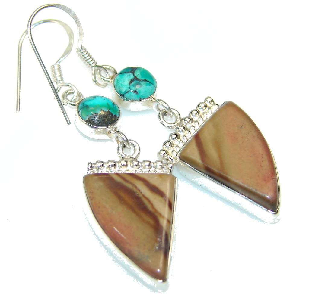 Image of Amazing Montana Agate Sterling Silver earrings