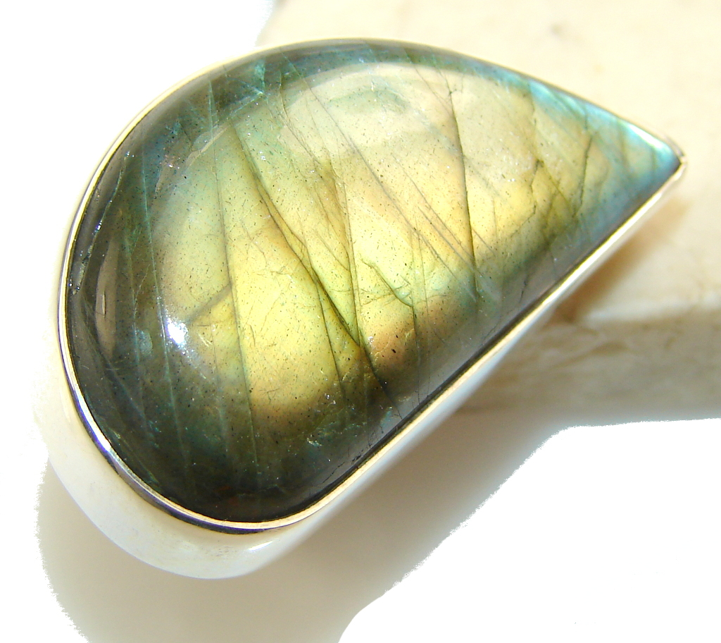 Great Impression Of Labradorite Sterling Silver Ring s. 6 1/2