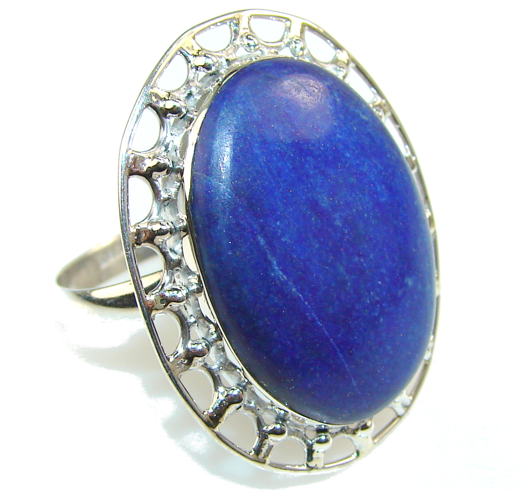Simple The Best!! Lapis Lazuli Sterling Silver Ring s. 10 1/4