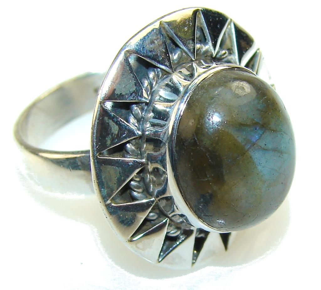 Morning Frost!! Labradorite Sterling Silver Ring s. 8