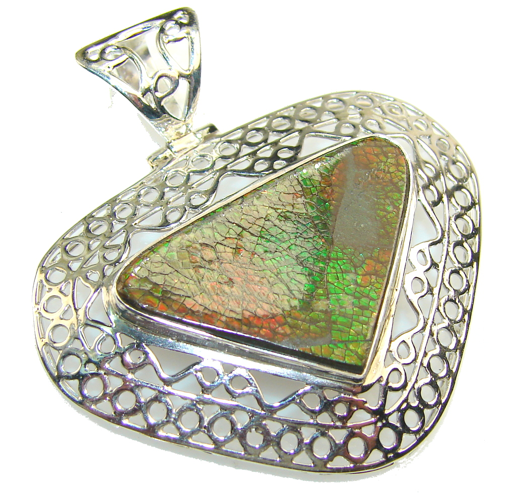 Empress Ammolite Sterling Silver Pendant