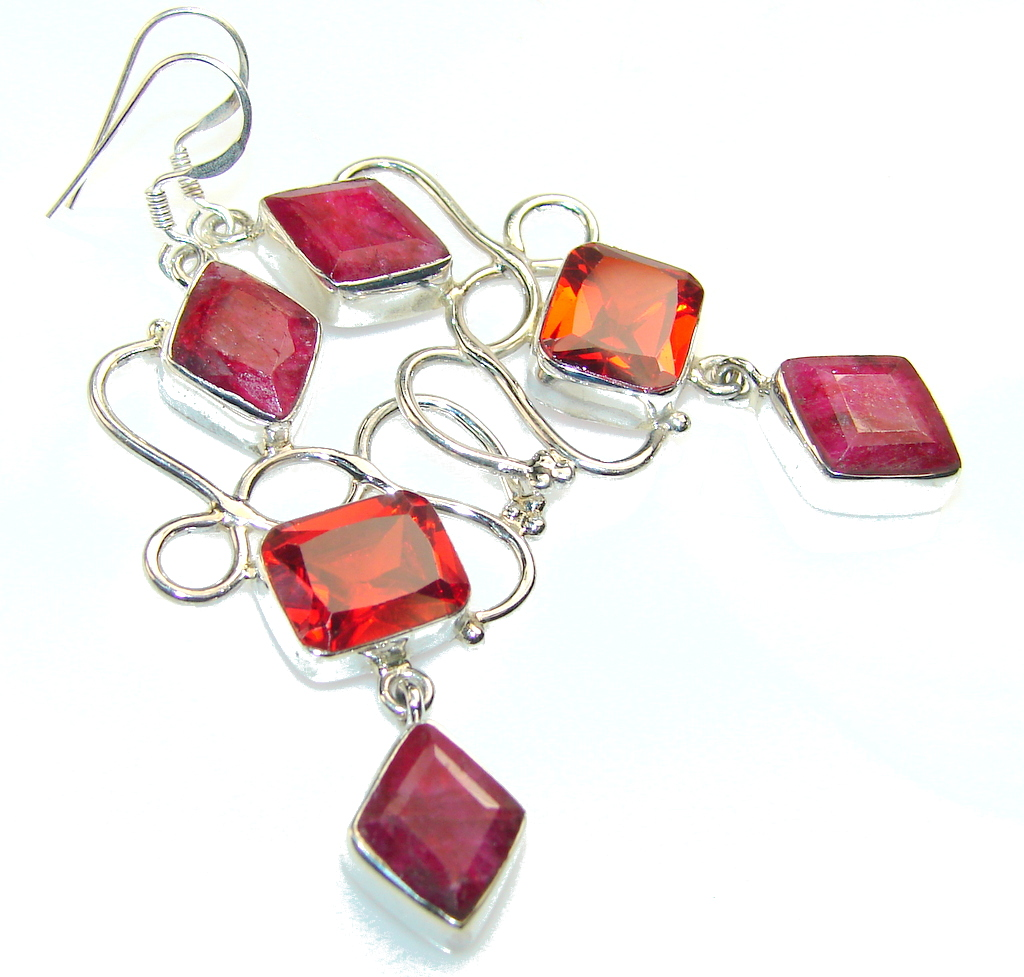Aura Of Beauty!! Pink Ruby Sterling Silver