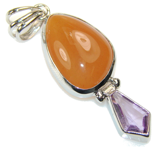 My Sweet Agate Sterling Silver Pendant