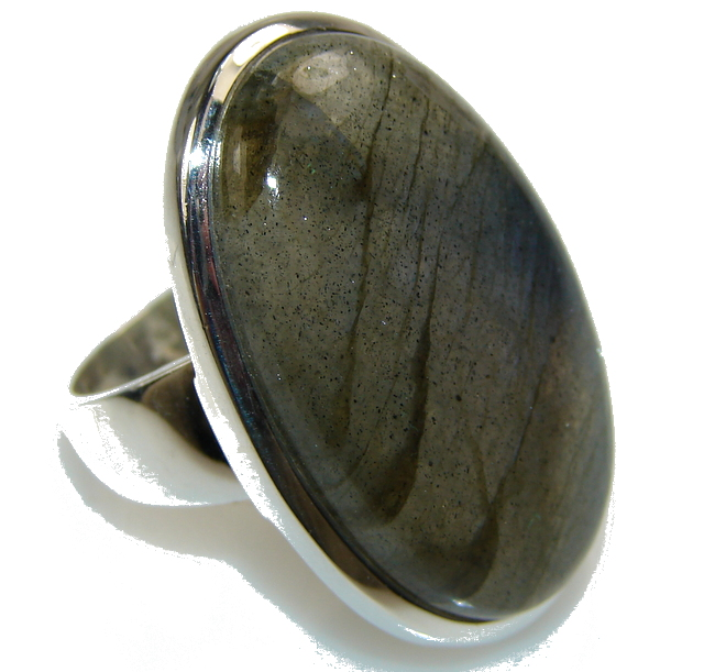Amazing Blue Labradorite Sterling Silver Ring s. 7