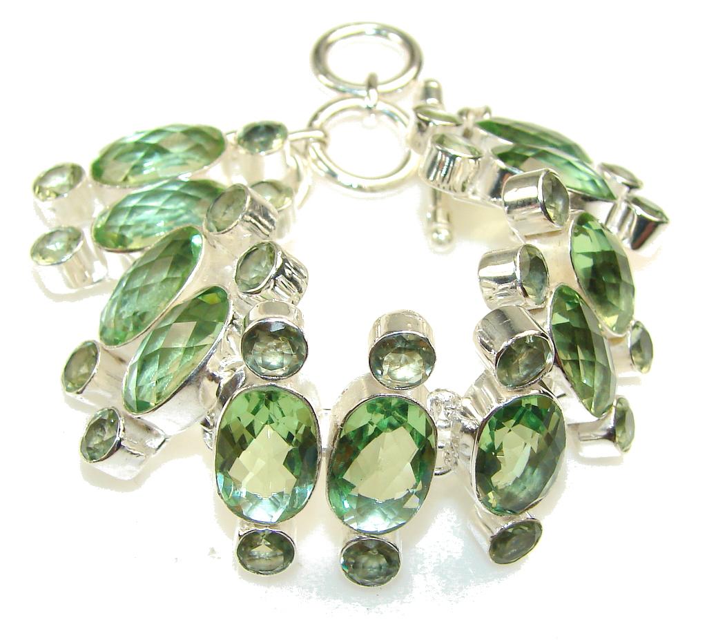 Mint Petals!! Apatite Quartz Sterling Silver Bracelet