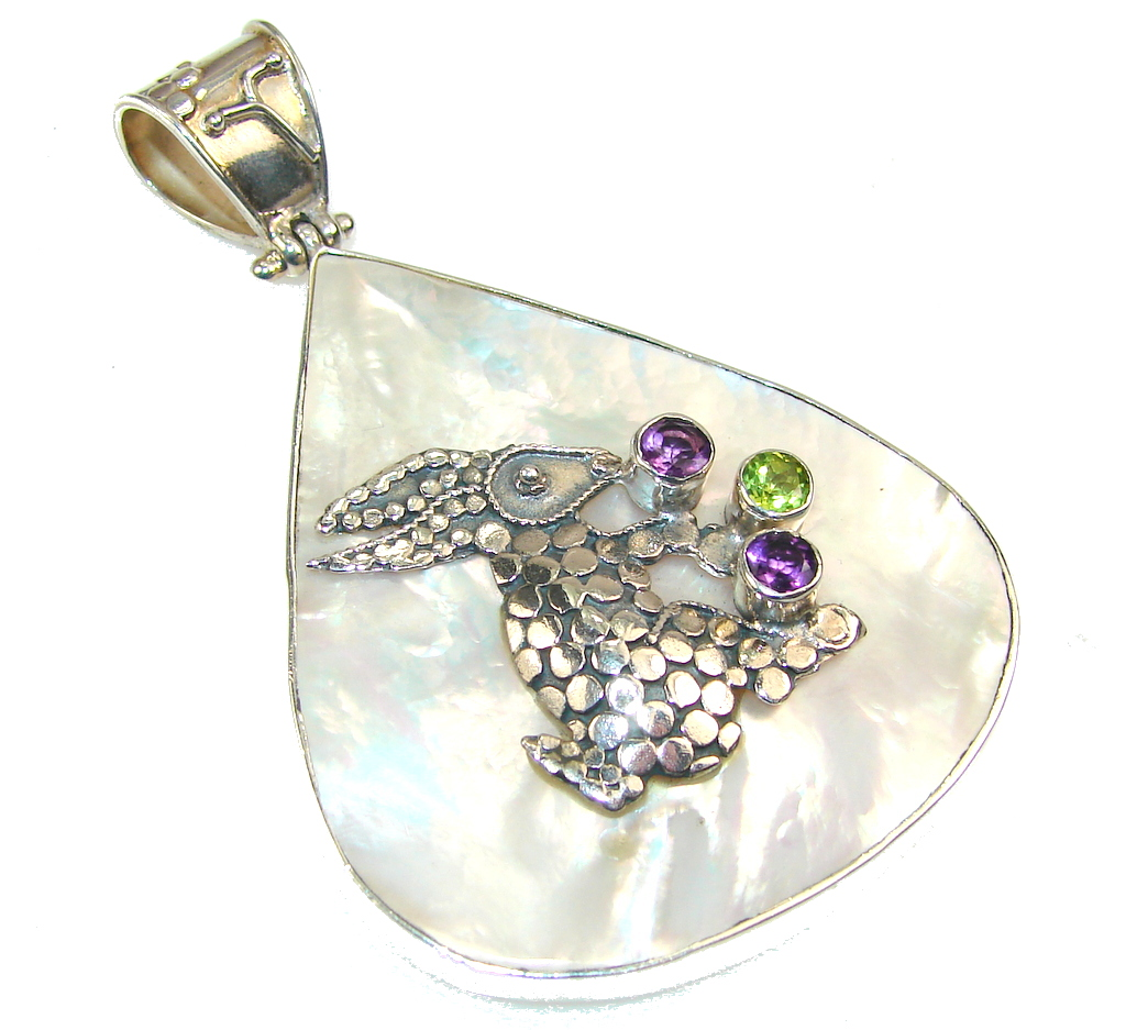 Image of New Trendy Rabbit Blister Pearl Sterling Silver pendant