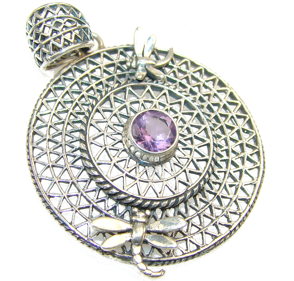 Amazing Design of Amethyst Sterling Silver Pendant