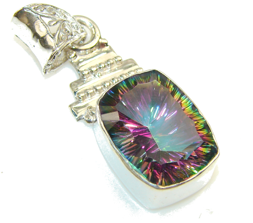 Image of Disco Light!! Magic Topaz Sterling Silver Pendant