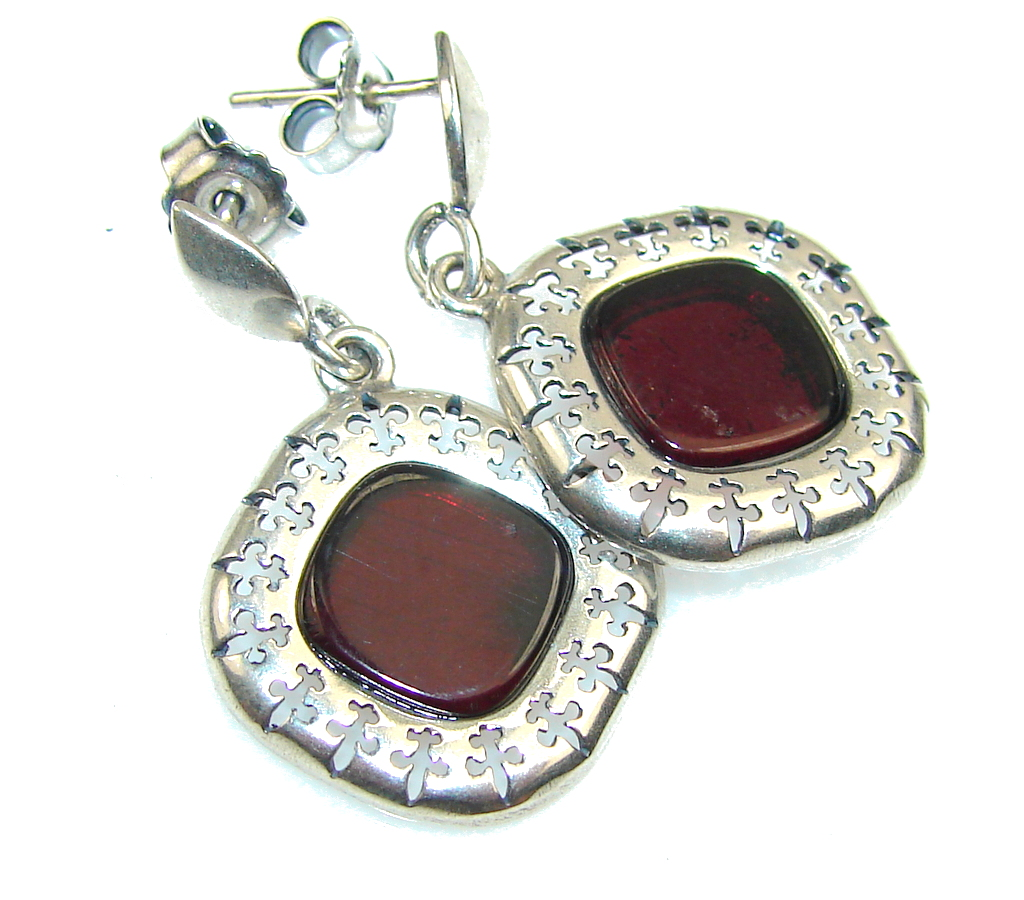 Passion Polish Amber Sterling Silver earrings