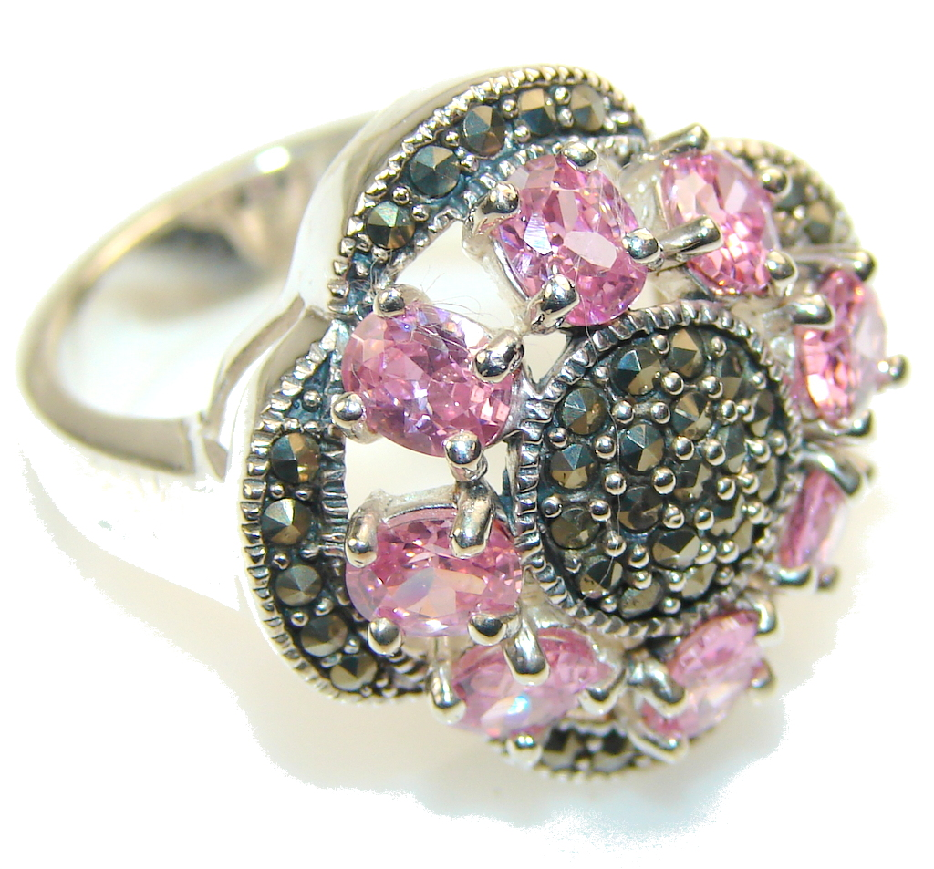 marcassite.com Amazing Design!! Marcasite Sterling Silver ring s. 8
