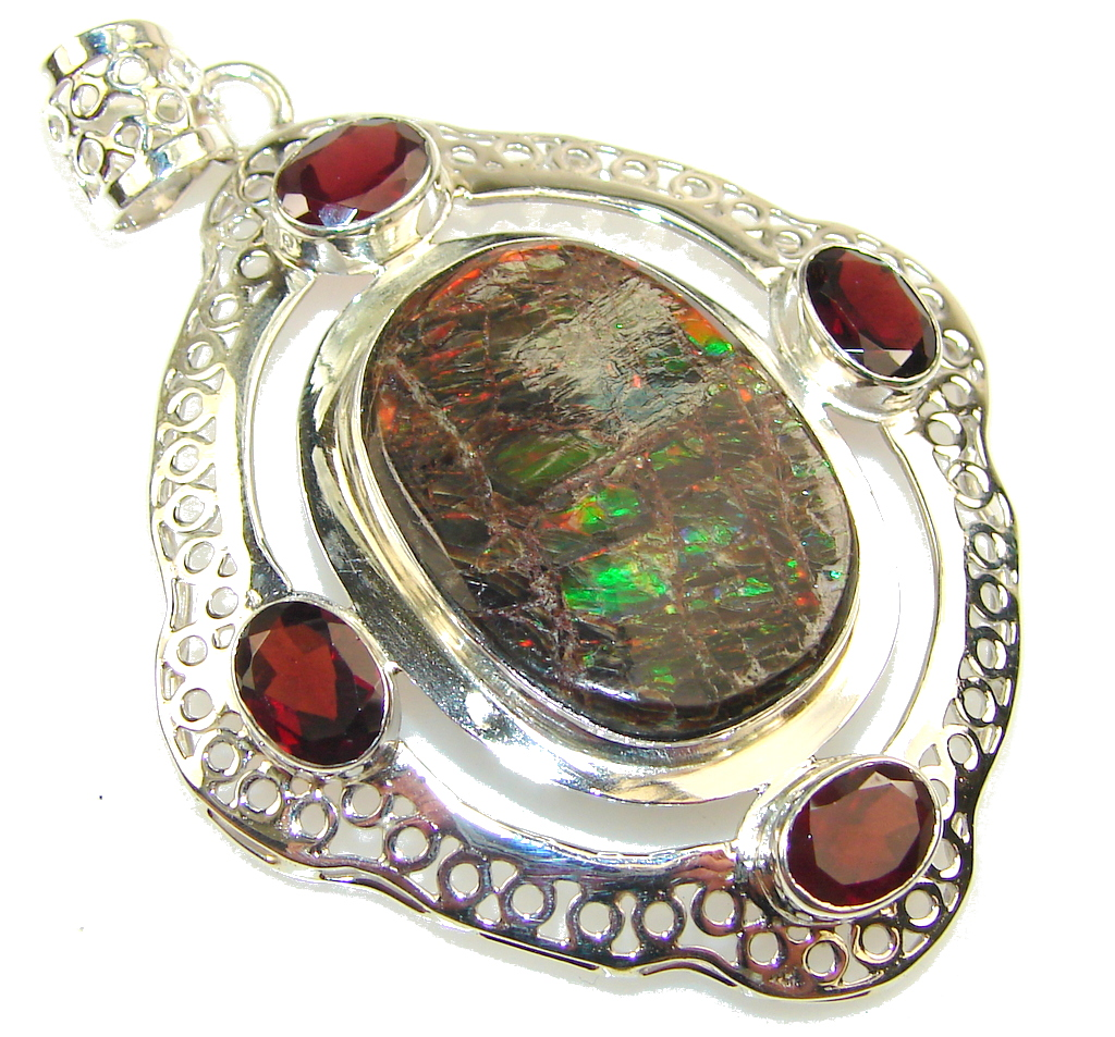 Store Of Love!! Ammolite Sterling Silver Pendant