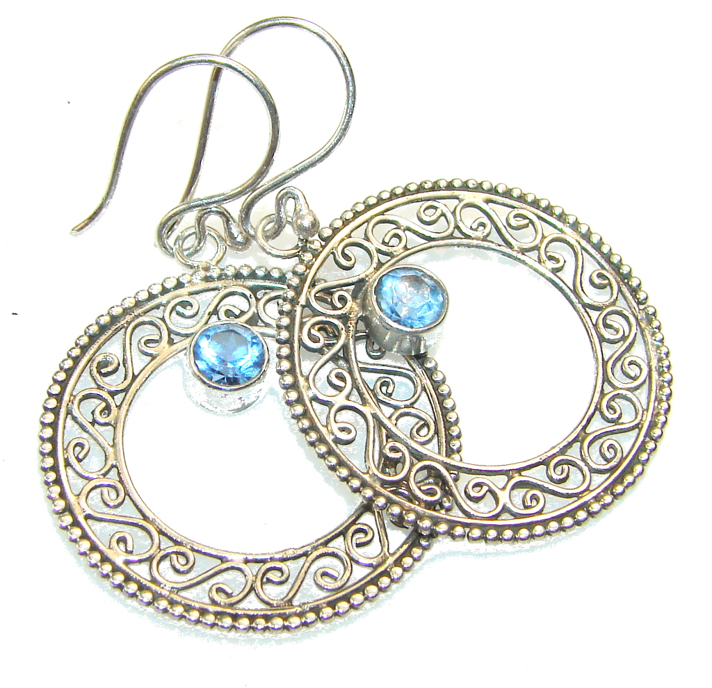 Image of Awesome Light Blue Tanzanite Sterling Silver earrings